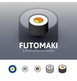 Futomaki icon in different style vector image vector image