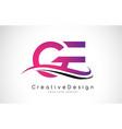 ge g e letter logo design creative icon modern vector image vector image