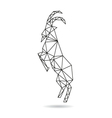 Goat abstract isolated vector image vector image