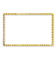gold frame cinema on a white background vector image vector image