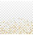Gold star confetti background vector image
