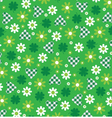 green hearts and flowers vector image vector image