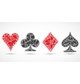 Hand drawn sketched Playing cards poker blackjack vector image vector image