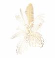 hand drawn summer golden tropical bouquet vector image