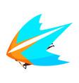 hang glider skydiving parachuting extreme sport vector image vector image
