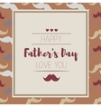 Happy fathers day Hipster style Card with vector image vector image