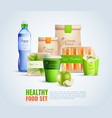 healthy food packaging template vector image vector image