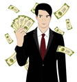 hold money vector image