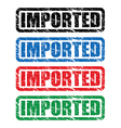 imported stamp vector image