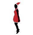 joyful santa girl jumps vector image