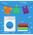 Laundry square concept vector image