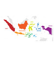 main islands of indonesia map with names vector image vector image