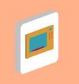 microwave computer symbol vector image vector image
