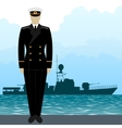 Military Uniform Navy sailor-11 vector image vector image