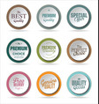 modern badges collection 2 vector image vector image