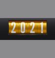 new year golden scoreboard numbers 2021 vector image
