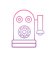 old telephone phone gradient icon vector image vector image