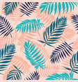 palm leaves pattern tropical tree leaf floral vector image