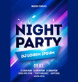 party night flyer or banner design template vector image vector image