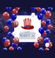 presidents day greeting card stylized the hat vector image vector image