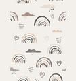 rainbow vintage print boho minimalist printable vector image vector image