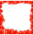 Red Hearts Frame vector image vector image