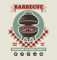 retro barbecue party restaurant invitation vector image vector image
