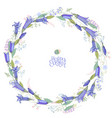round floral garland with bluebell flowers vector image vector image