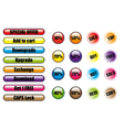 Sales tags buttons vector image
