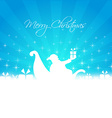 santa bringing gifts card vector image