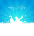 santa bringing gifts card vector image vector image