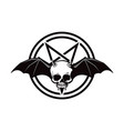 scary halloween demon skull icon vector image vector image