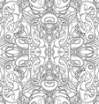 Seamless Abstract Black and White Tribal Pattern vector image vector image