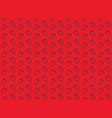 seamless strawberry pattern on red background vector image vector image