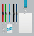 set of lanyard and badge vector image vector image