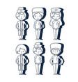 set professional doctors and nurses vector image