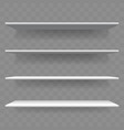 shelf white wood empty 3d bookshelf vector image