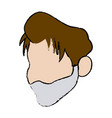 sick man unhappy character healthcare cartoon vector image vector image