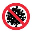 sign caution coronavirus stop corona virus vector image vector image