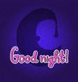 silhouette of half moon in night hat good night vector image