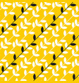simple yellow leaves branch seamless pattern vector image vector image