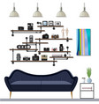 small living room vector image vector image