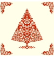 Stylized Christmas tree vector image vector image