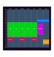 the week planner mockup of tasks for business vector image vector image