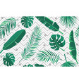 tropic seamless pattern geometric modern endless vector image vector image