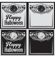 Vintage Happy Halloween greetings cards vector image
