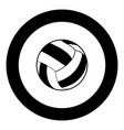 volleyball ball icon black color in circle vector image vector image
