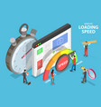 website loading optimization page speed and seo vector image