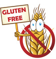 wheat cartoon with signboard isolated on white vector image vector image