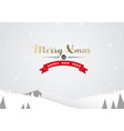 winter mountain landscape scenery and merry xmas vector image